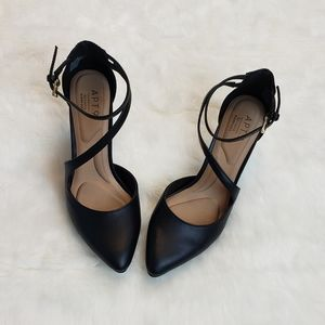 Strappy Black High Heels Size 6.5